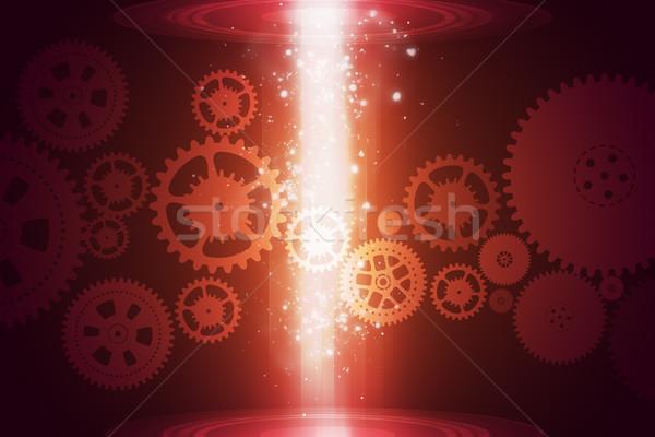 Resumen engranajes brillante fondo Foto stock © cherezoff