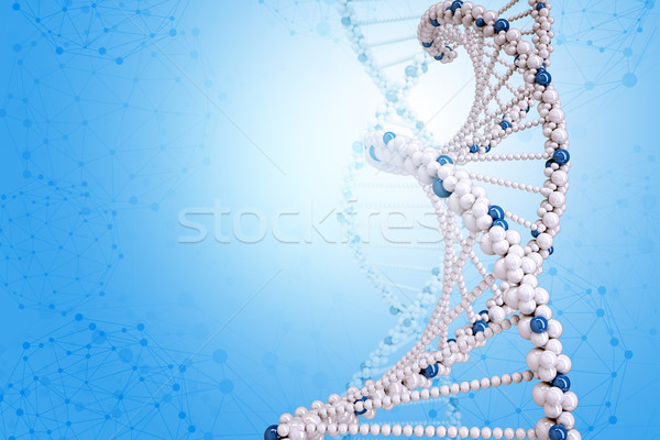 Dna Blauw mooie illustratie abstract medische Stockfoto © cherezoff