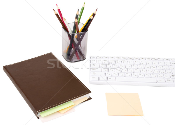 Notebook with notes Stock photo © cherezoff