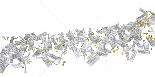Stroom geld dollar geïsoleerd 3D Stockfoto © cherezoff