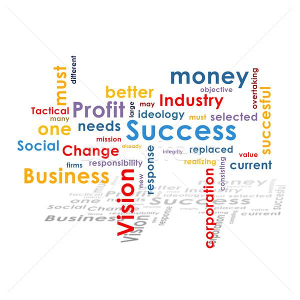 Business woorden tekst schaduw geld teken Stockfoto © cherezoff