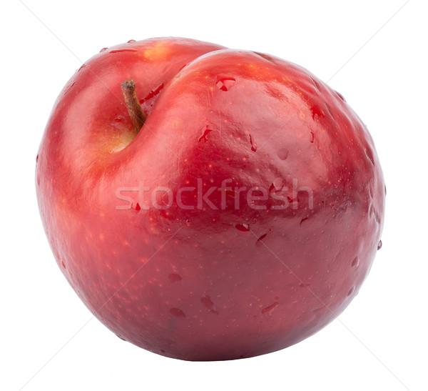 Piros érett nektarin friss izolált fehér Stock fotó © cherezoff