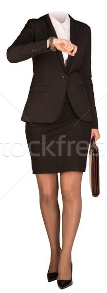ストックフォト: 女性 · ボディ · 徒歩 · スーツケース · 孤立した · 少女