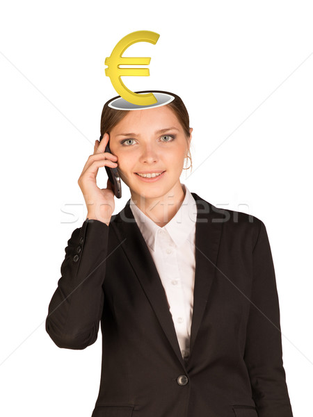 Businesslady with euro sign Stock photo © cherezoff