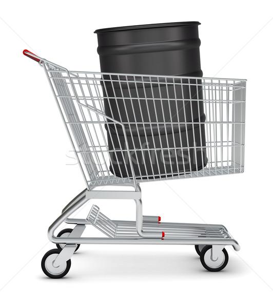 Oil barrel in shopping cart Stock photo © cherezoff