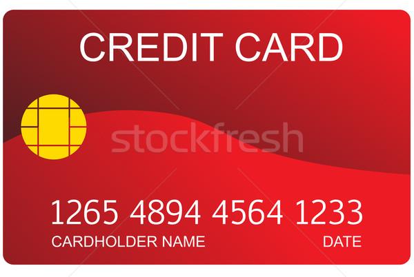 Red credit card Stock photo © cherezoff