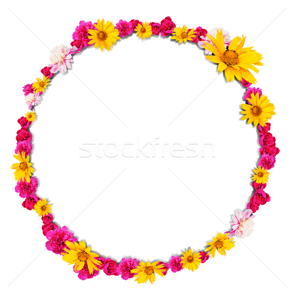 Round shape from flowers Stock photo © cherezoff