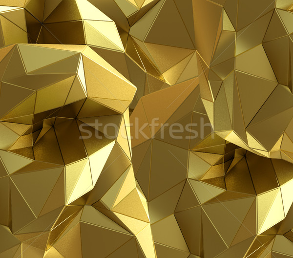 Luxury gold abstract triangle background Stock photo © cherezoff