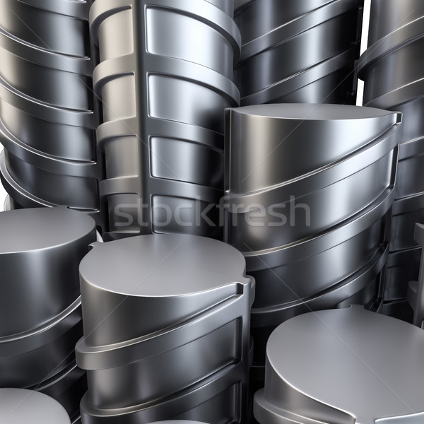 Steel reinforcements. Close-up Stock photo © cherezoff