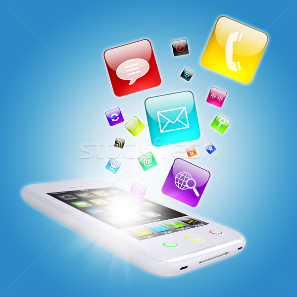 スマートフォン プログラム アイコン コンピュータソフトウェア インターネット ネットワーク ストックフォト © cherezoff