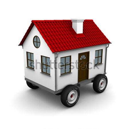 Truck carries two houses Stock photo © cherezoff