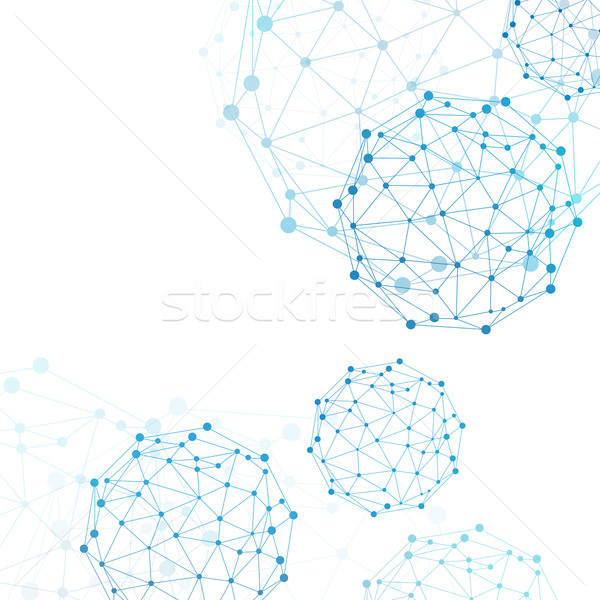 Wire frame sphere. Network concept Stock photo © cherezoff
