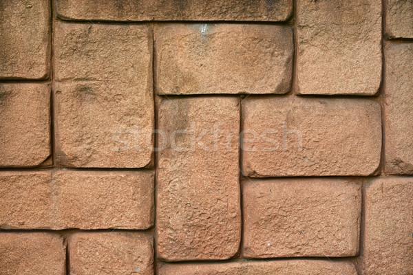 Wall of brown bricks Stock photo © cherezoff