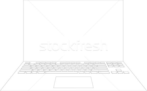 Laptop sketch Stock photo © cherezoff