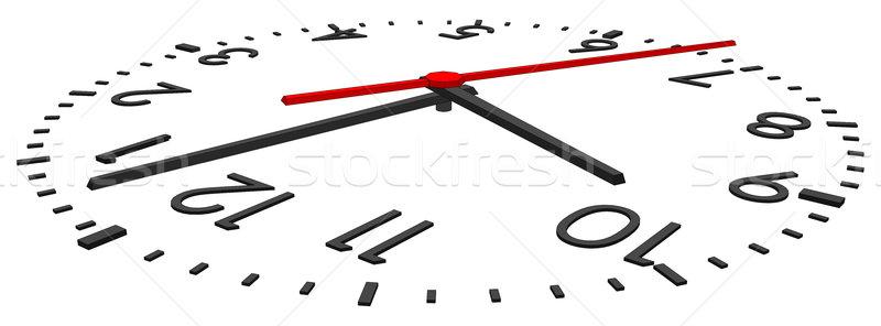 Clock on white Stock photo © cherezoff