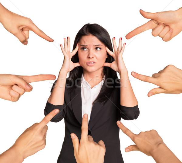 Businesslady showing emotions Stock photo © cherezoff