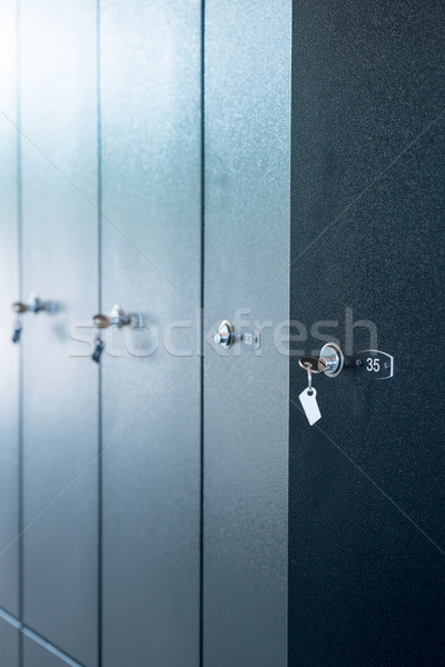 Set of metal lockers with numbers Stock photo © cherezoff