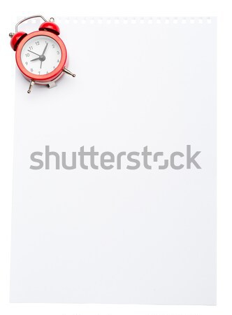 Piece of paper with alarm clock Stock photo © cherezoff