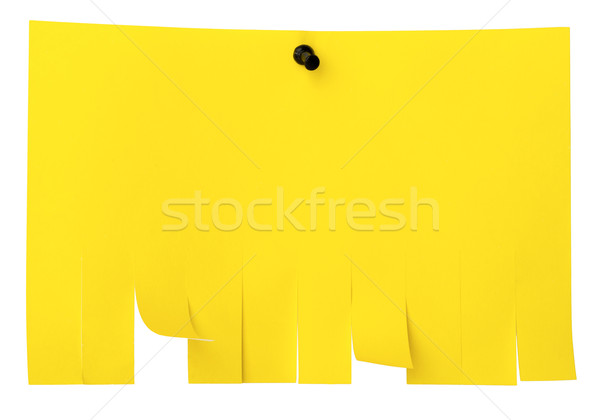 Yellow tear off paper notice on wall Stock photo © cherezoff