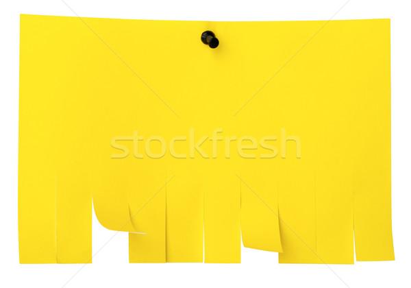 Citromsárga tép el papír figyelmeztetés fal Stock fotó © cherezoff