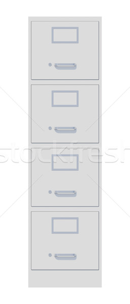 Office cabinet isolated over white background Stock photo © cherezoff