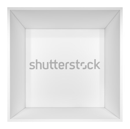 Lege witte boekenplank geïsoleerd 3d illustration business Stockfoto © cherezoff