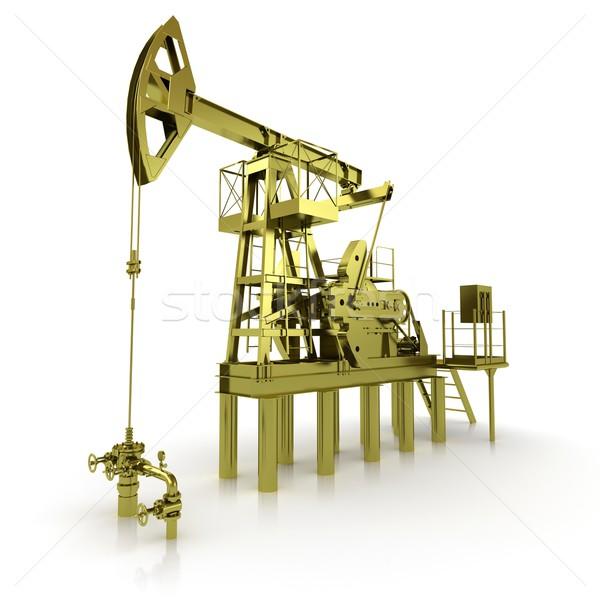 Or machine pétrolières pomper affaires technologie Photo stock © cherezoff