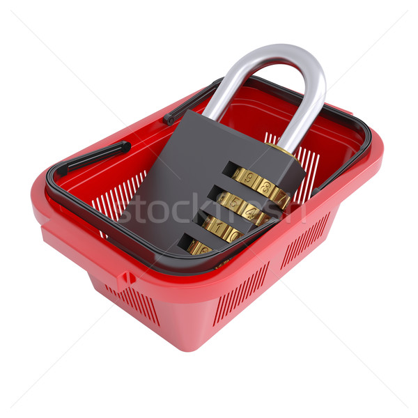 Combination lock in the shopping basket Stock photo © cherezoff
