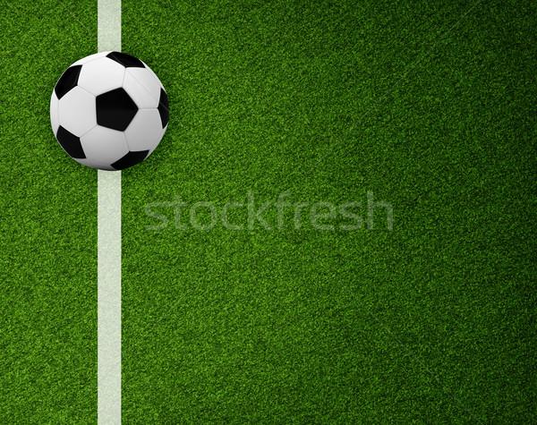 Vacío campo de fútbol superior vista deportes hierba Foto stock © cherezoff