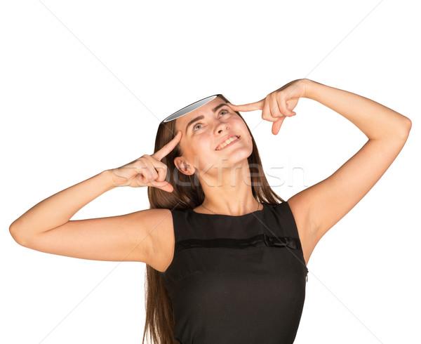Businesslady with empty head Stock photo © cherezoff