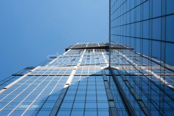 зданий Blue Sky нижний мнение Сток-фото © cherezoff