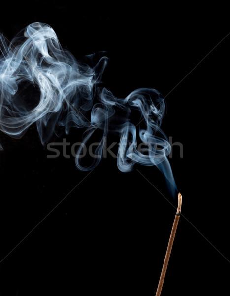 Movement of white fog on black Stock photo © cherezoff
