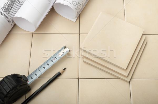 Stock photo: Set of tiles
