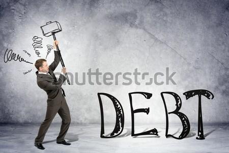 Businessman shooting  another man Stock photo © cherezoff