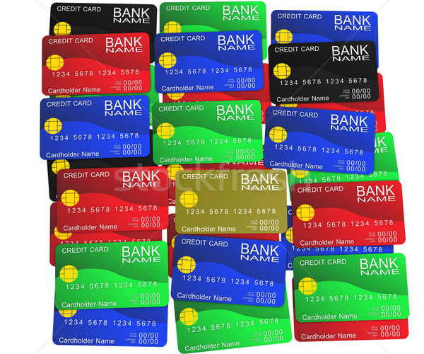 A layer of colored credit cards Stock photo © cherezoff