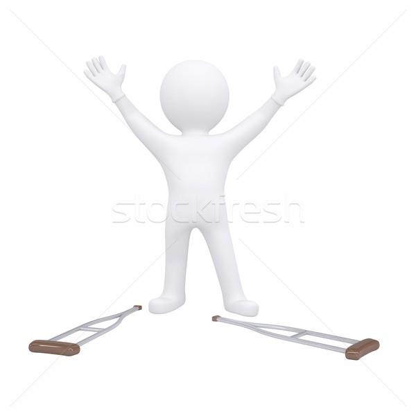 3d ember mankók izolált render fehér gyógyszer Stock fotó © cherezoff