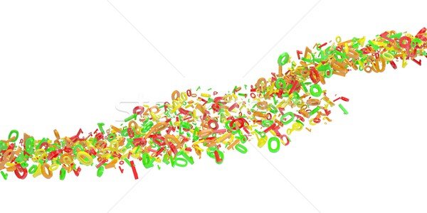 The flow of colored figures Stock photo © cherezoff