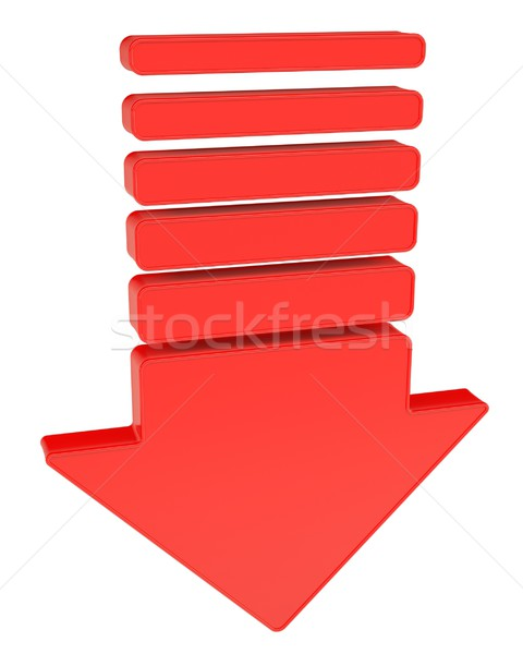 A red arrow pointing down Stock photo © cherezoff
