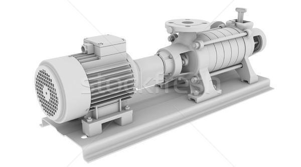White water pump Stock photo © cherezoff