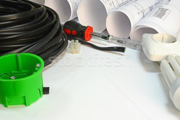 Dibujo eléctrica hardware herramientas Foto stock © cherezoff