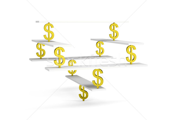 Financial balance on white Stock photo © cherezoff
