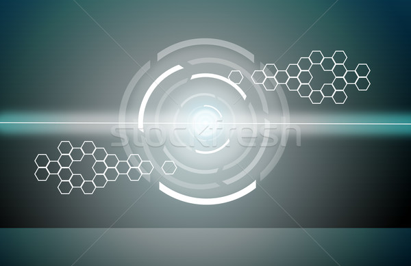 abstract background with rounds Stock photo © cherezoff