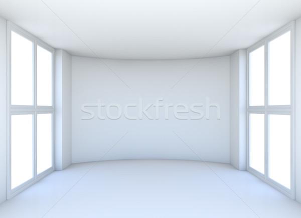 Empty exhibition hall with windows Stock photo © cherezoff