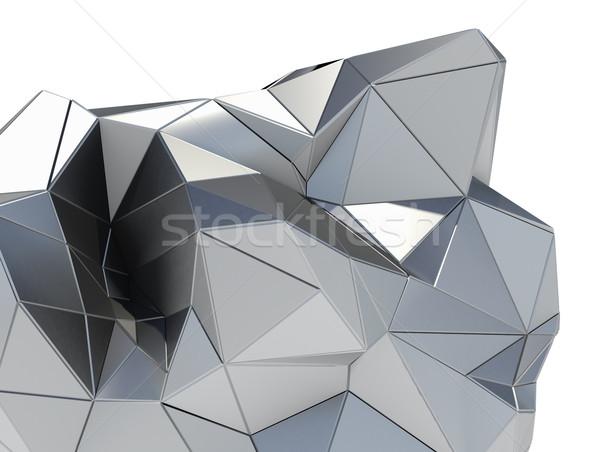 Metal modern bina beyaz 3d illustration iş inşaat Stok fotoğraf © cherezoff