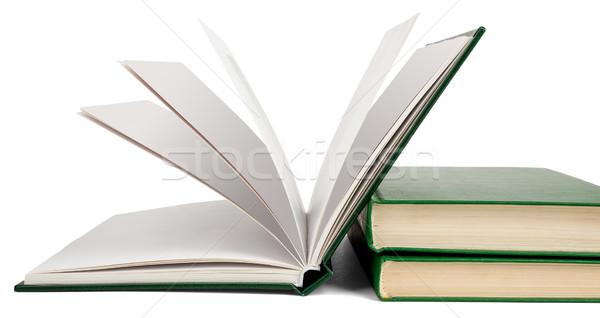 открытой книгой книгах изолированный белый образование группа Сток-фото © cherezoff