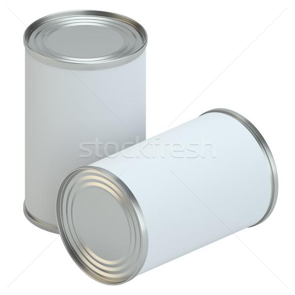 белый металл олово можете продукт Сток-фото © cherezoff