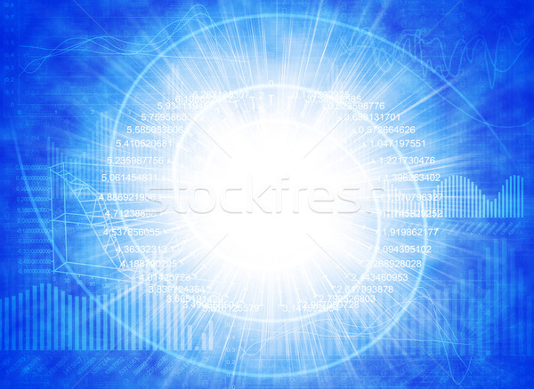 Graphics and glowing spiral Stock photo © cherezoff