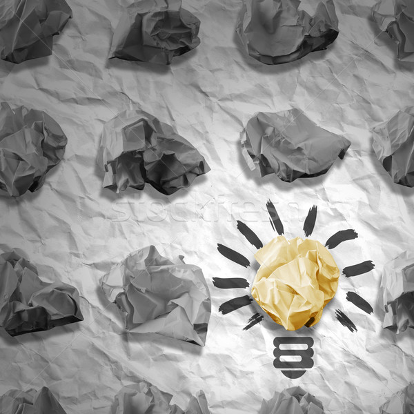 Lamp made ​​of paper and crumpled paper wads Stock photo © cherezoff