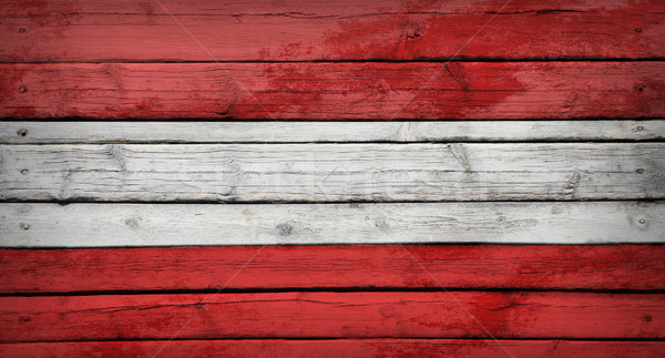 Austrian flag painted on wooden boards Stock photo © cherezoff