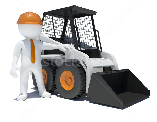 3d worker with construction loader Stock photo © cherezoff